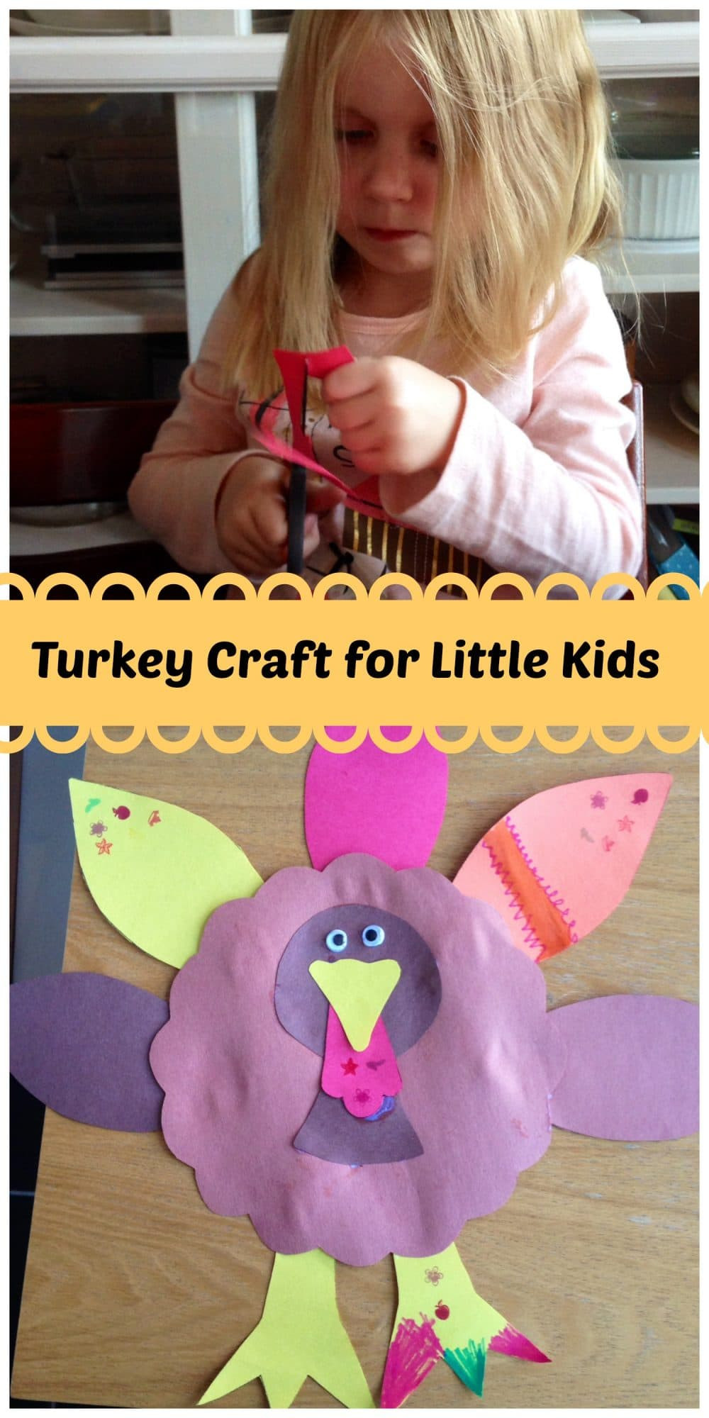 Best ideas about Crafts For Little Kids . Save or Pin Turkey Craft for Kids Big and Little Family Food And Travel Now.