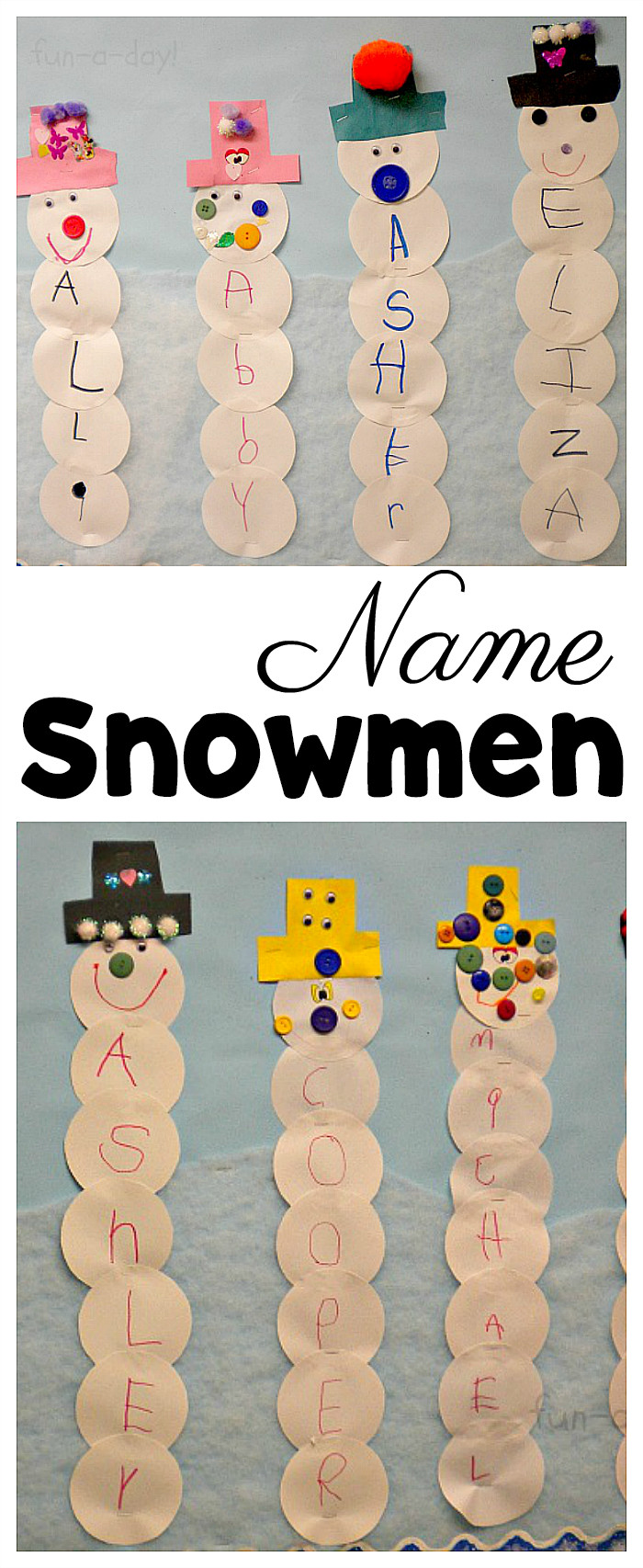 Best ideas about Crafts For Preschool Kids . Save or Pin Name Snowman Preschool Craft and Free Printable Now.