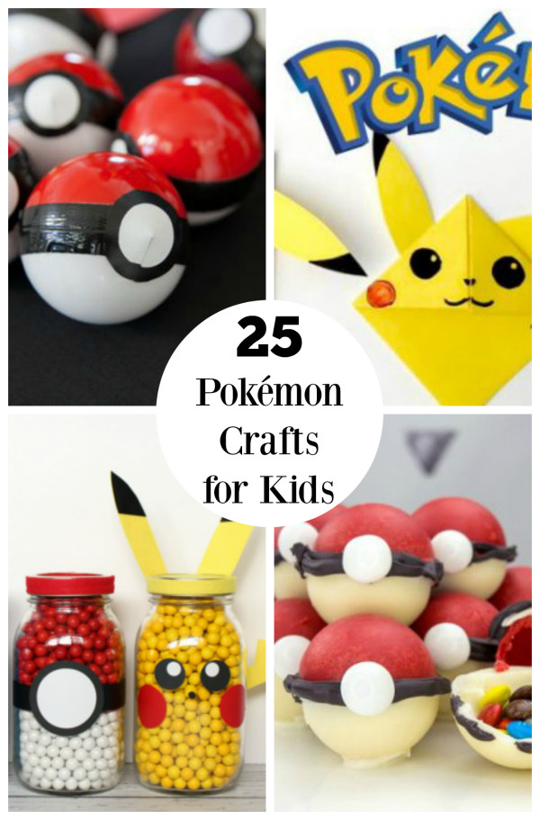 Best ideas about Crafts Ideas For Kids . Save or Pin 25 Pokémon Crafts for Kids on the GO Now.