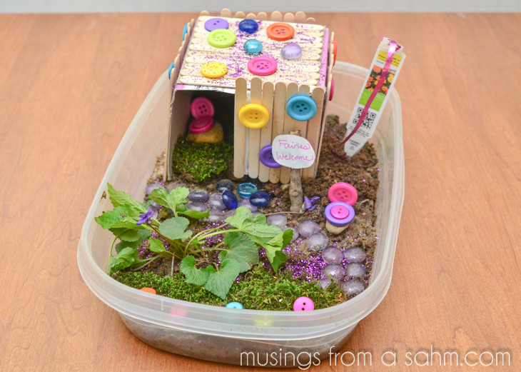 Best ideas about Crafts To Do At Home For Kids . Save or Pin How to Make a Fairy House Craft Living Well Mom Now.