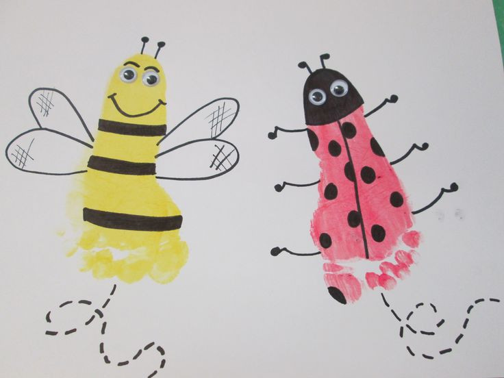 Best ideas about Crafts To Do With Baby . Save or Pin Foot Bugs These cute little bugs are easy to do and are Now.