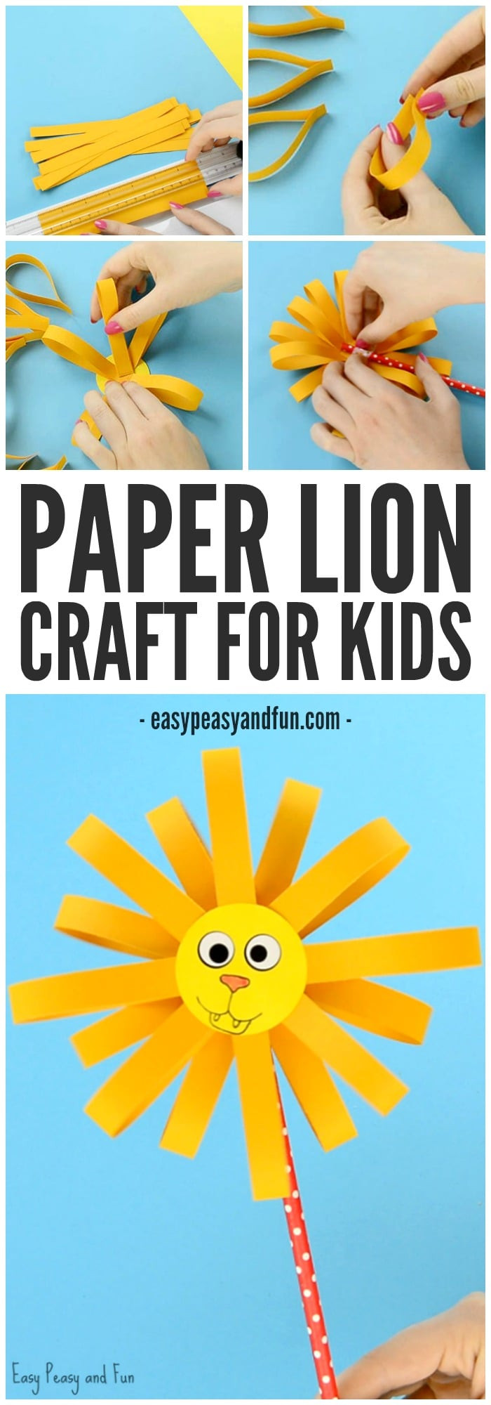 Best ideas about Crafts To Make For Kids . Save or Pin Paper Lion Craft Easy Peasy and Fun Now.