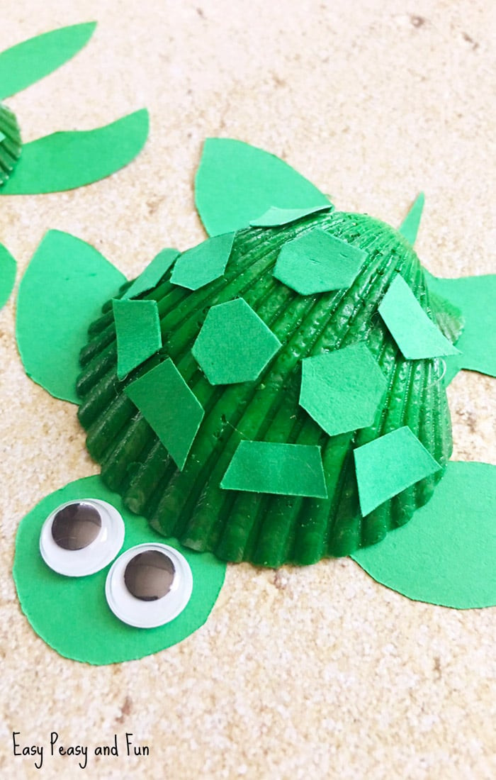 Best ideas about Crafts To Make For Kids . Save or Pin Seashell Turtle Craft Seashell Craft Ideas Easy Peasy Now.