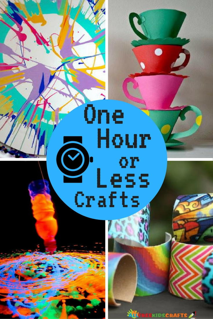 Best ideas about Crafts To Make For Kids . Save or Pin 26 Quick and Easy Crafts e Hour or Less Now.
