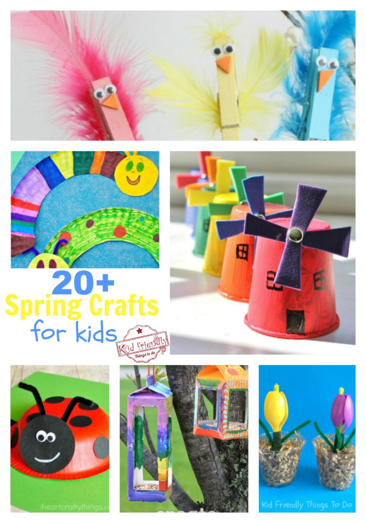 Best ideas about Crafts To Make For Kids . Save or Pin Over 20 Easy to Make Crafts for Kids That Wel e Spring Now.