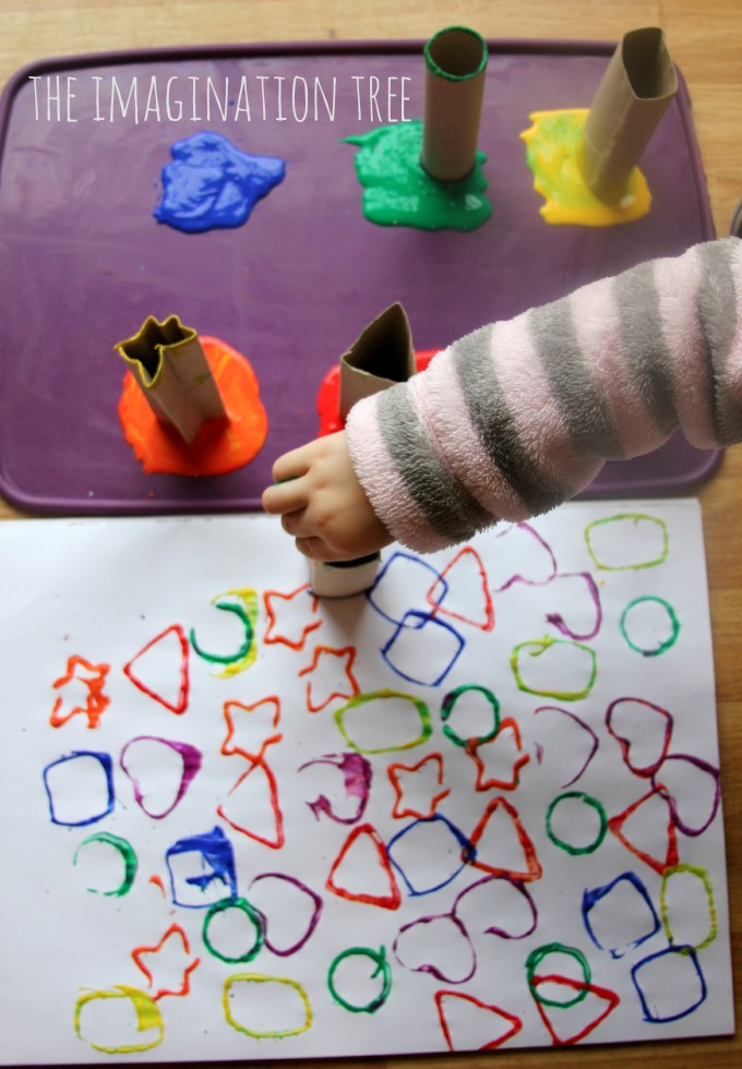 Best ideas about Creative Activities For Preschoolers . Save or Pin Printing with Cardboard Shape Tubes The Imagination Tree Now.