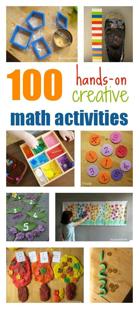 Best ideas about Creative Activities For Preschoolers . Save or Pin 100 hands on creative math activities for kids Now.