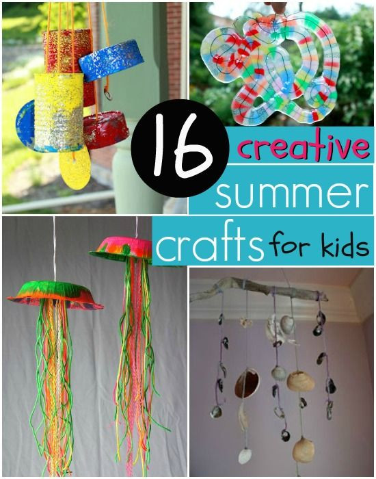 Best ideas about Creative Crafts For Kids . Save or Pin Creative & Easy Summer Crafts for Kids Now.