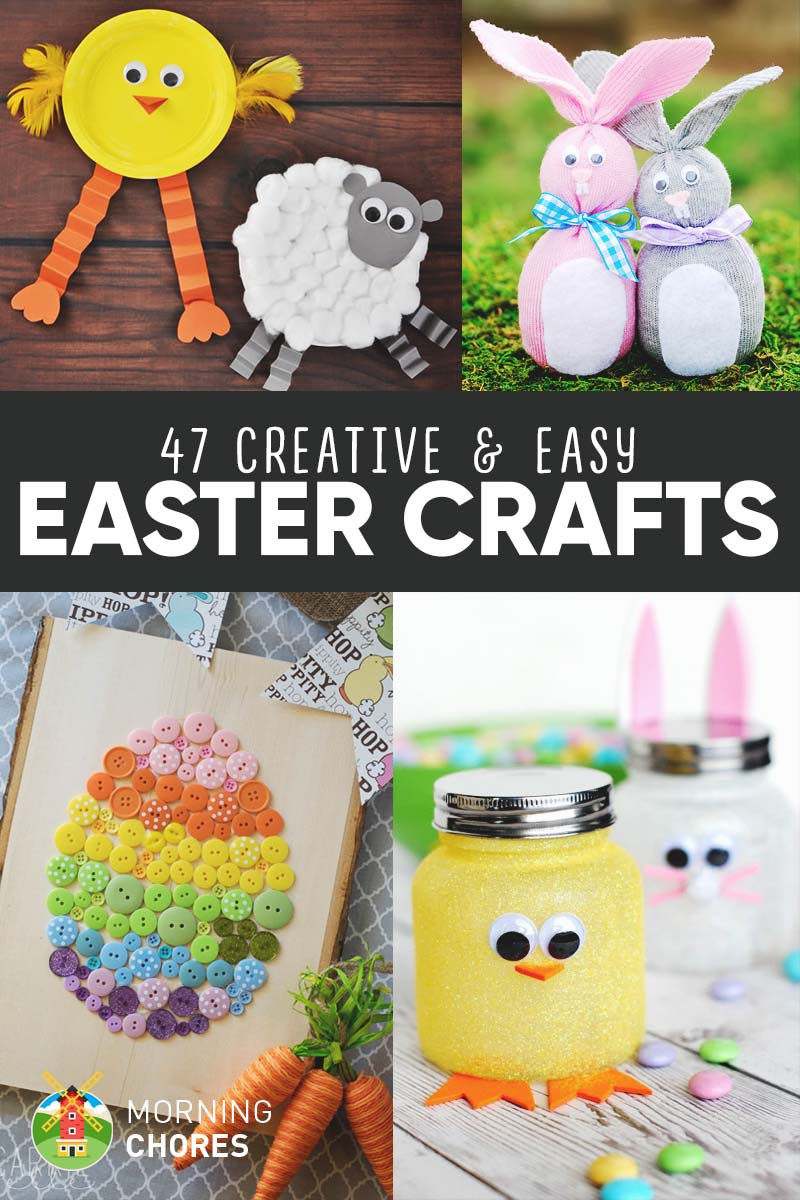 Best ideas about Creative Crafts For Kids . Save or Pin 47 Creative & Easy DIY Easter Crafts for Your Kids to Make Now.
