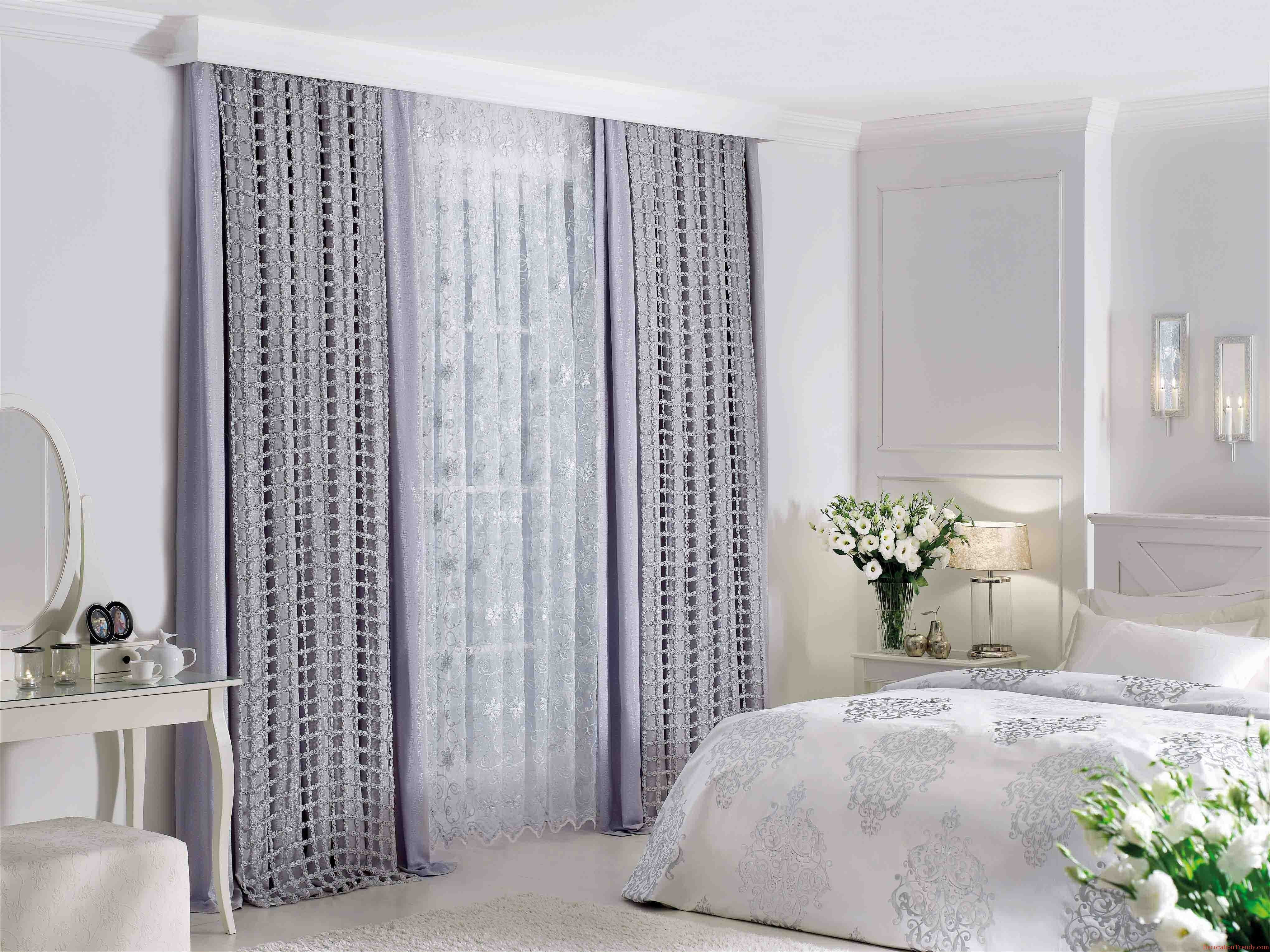 Best ideas about Curtain Idea For Bedroom . Save or Pin Awesome White Purple Glass Unique Design Interior Bedroom Now.