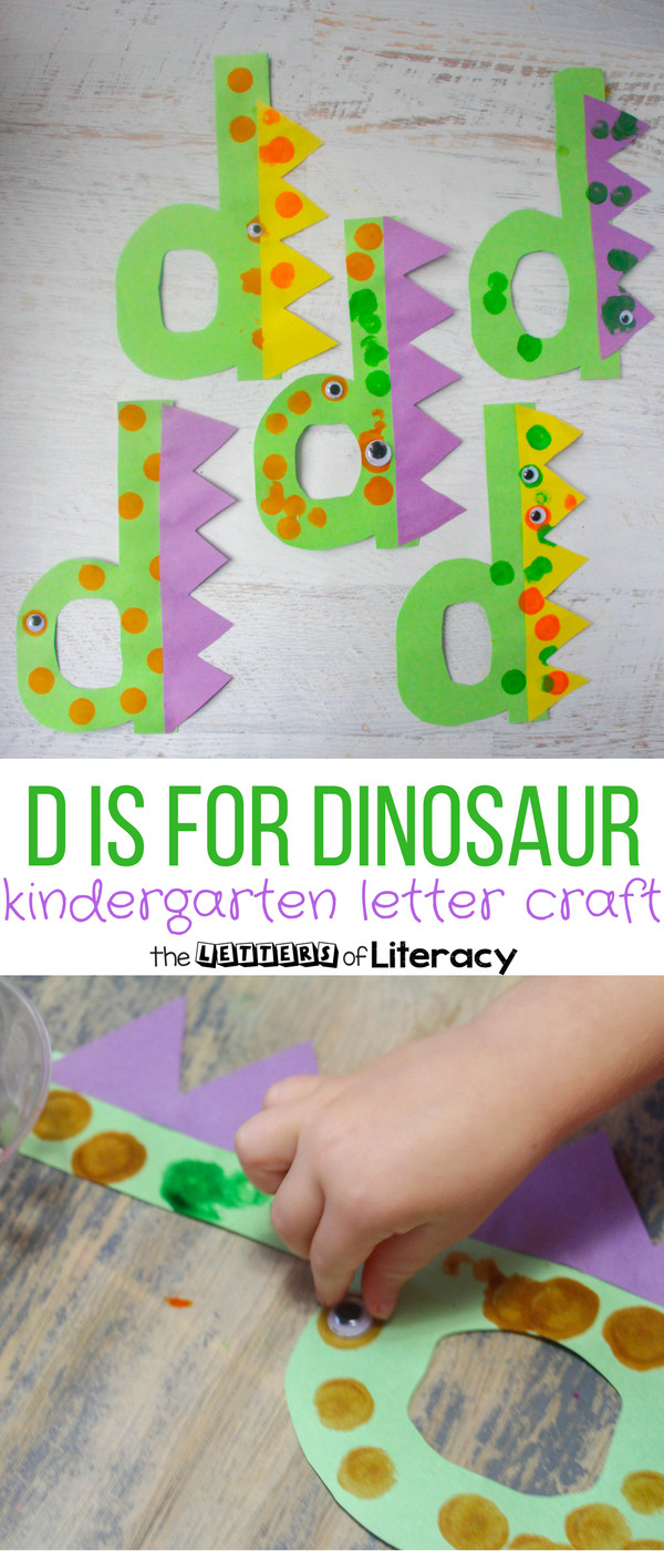 Best ideas about D Crafts For Preschoolers . Save or Pin Letter D Craft D is for Dinosaur Now.