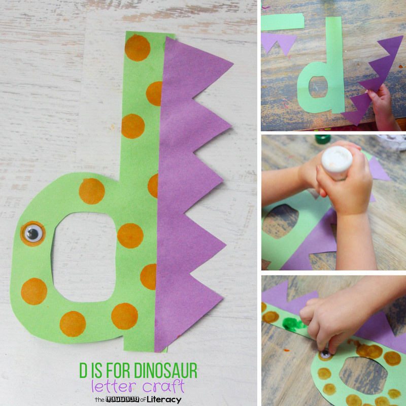 Best ideas about D Crafts For Preschoolers . Save or Pin Letter D Craft D is for Dinosaur The Letters of Literacy Now.