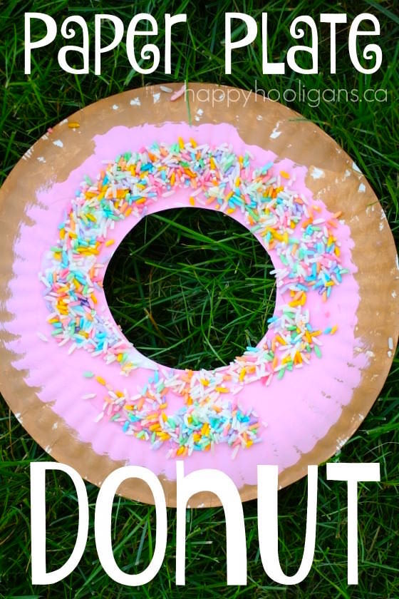 Best ideas about D Crafts For Preschoolers . Save or Pin Paper Plate Donut Craft for Kids Happy Hooligans Now.