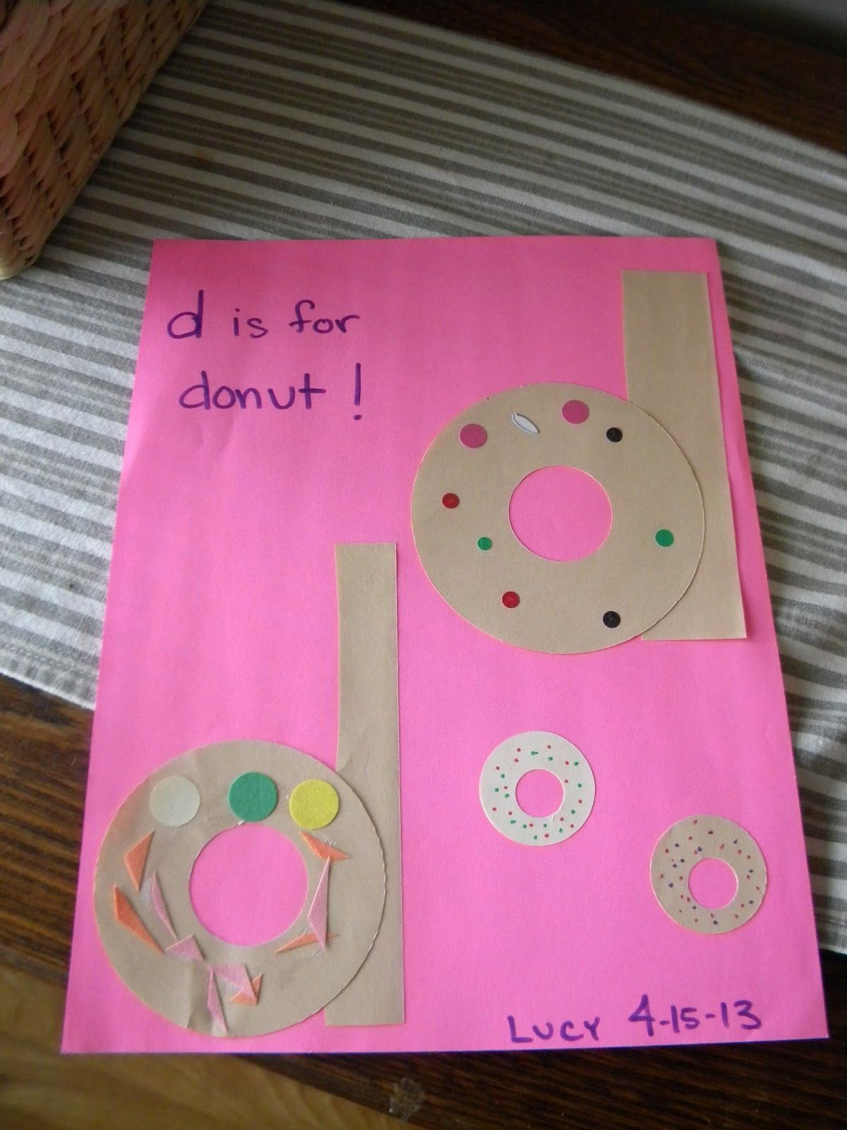 Best ideas about D Crafts For Preschoolers . Save or Pin D is for donut Alphabet Ideas Now.
