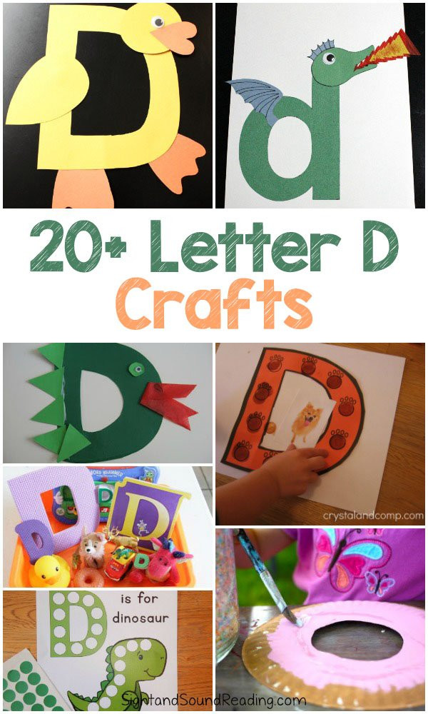 Best ideas about D Crafts For Preschoolers . Save or Pin Letter D Crafts for preschool or kindergarten – Fun easy Now.