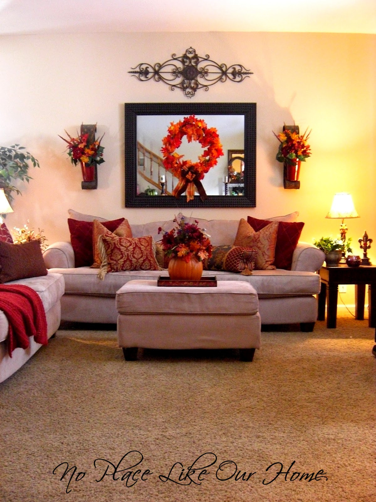 Best ideas about Decor For Living Room . Save or Pin No Place Like Our Home Front Living Room Fall Tour 2012 Now.