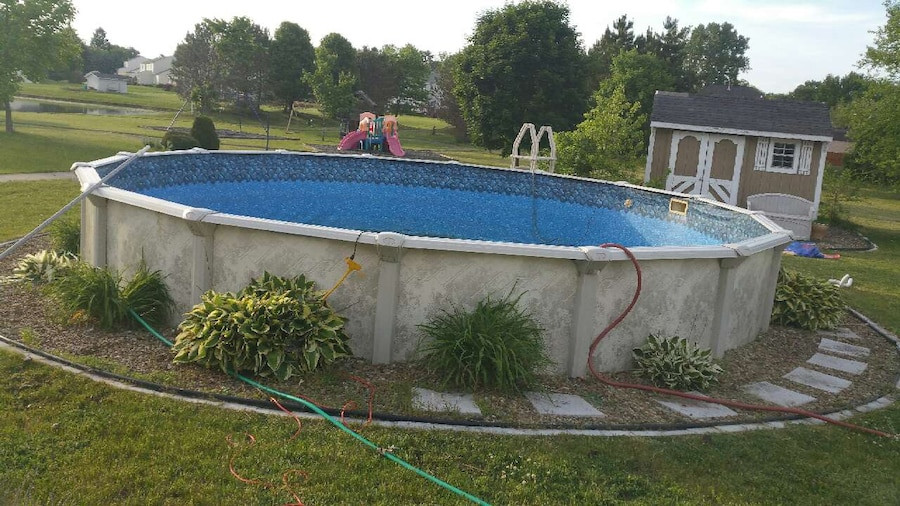 """Best ideas about Deepest Above Ground Pool . Save or Pin letgo 24 foot round 52"""" deep ab in North Ridgeville OH Now."""