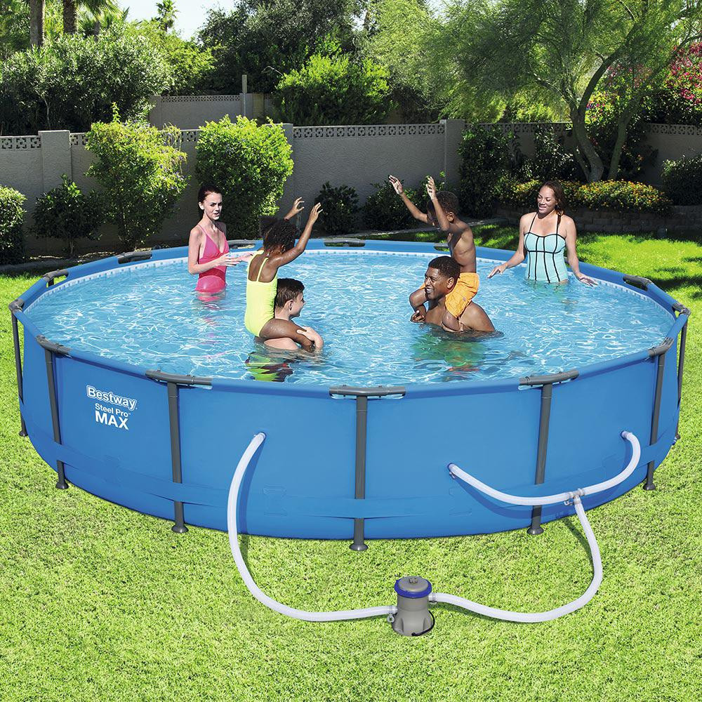 Best ideas about Deepest Above Ground Pool . Save or Pin Bestway Steel Pro 14 ft Round x 33 in Deep Ground Now.
