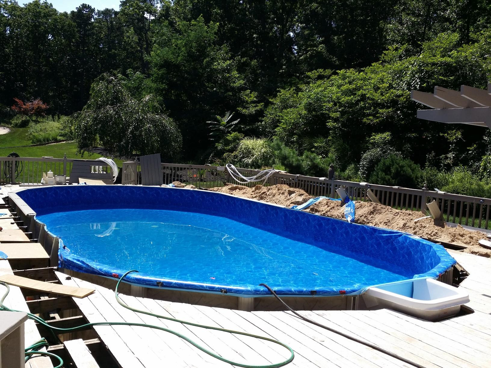 Best ideas about Deepest Above Ground Pool . Save or Pin Pool Services Ground Pool Installation with Deck Now.