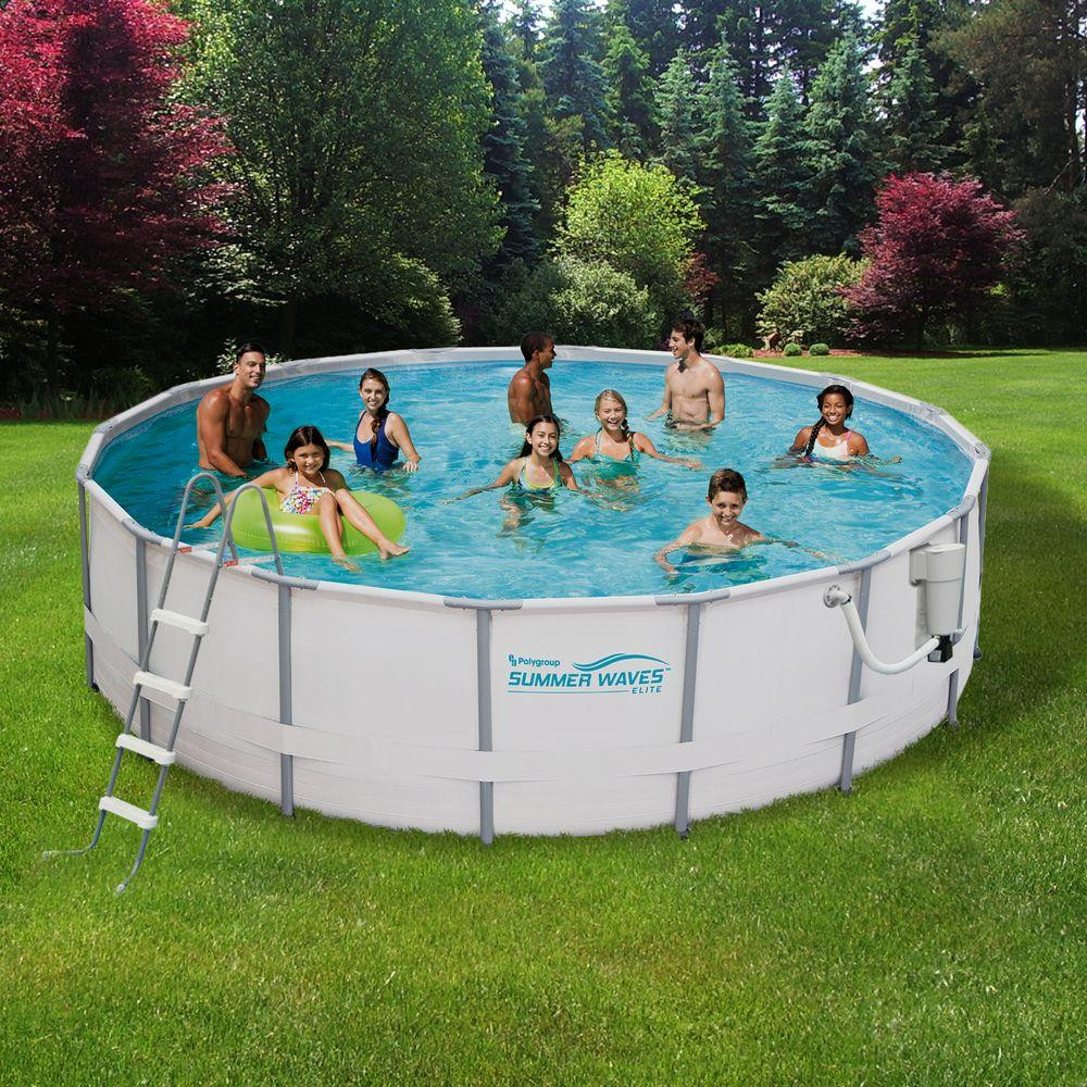 Best ideas about Deepest Above Ground Pool . Save or Pin Summer Waves Elite ProSeries 15 ft Round x 48 in Deep Now.