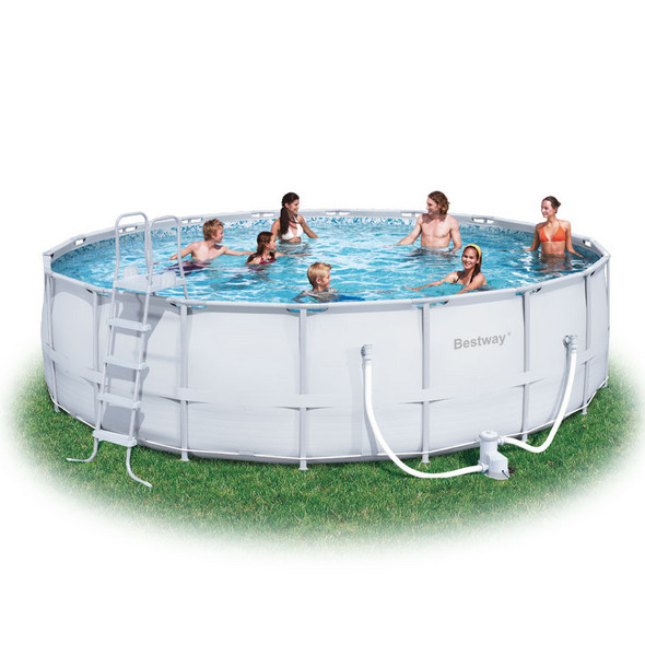 Best ideas about Deepest Above Ground Pool . Save or Pin Bestway 18 Round Fast Set Ground Swimming Pool Now.