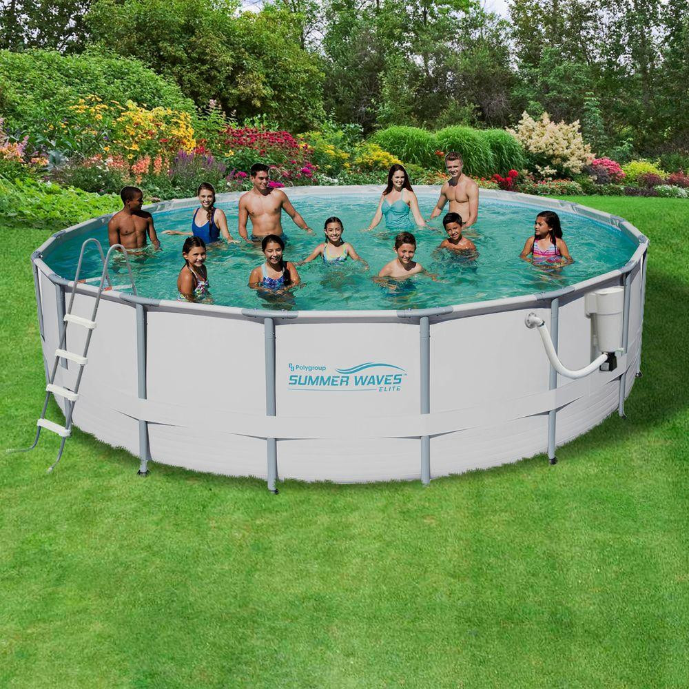 Best ideas about Deepest Above Ground Pool . Save or Pin Summer Waves Elite ProSeries 18 ft Round x 52 in Deep Now.