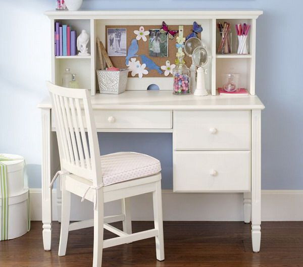Best ideas about Desk For Bedroom . Save or Pin Girls Bedroom Ideas with Small White Study Desk and Chair Now.