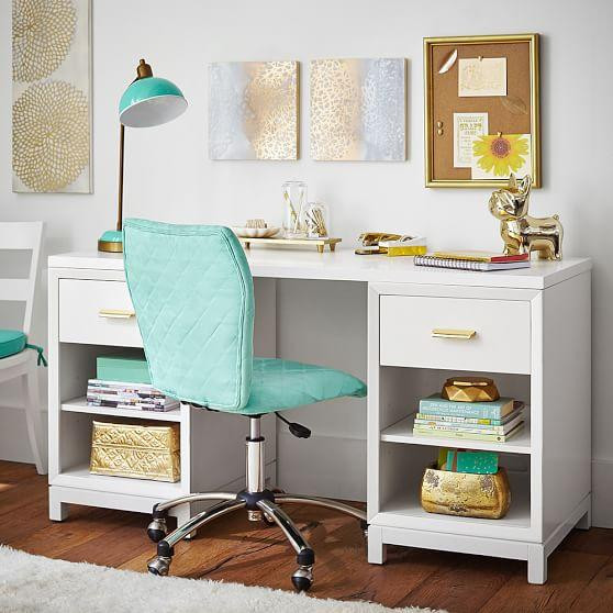 Best ideas about Desk For Bedroom . Save or Pin White Rowan Cubby Storage Desk Now.