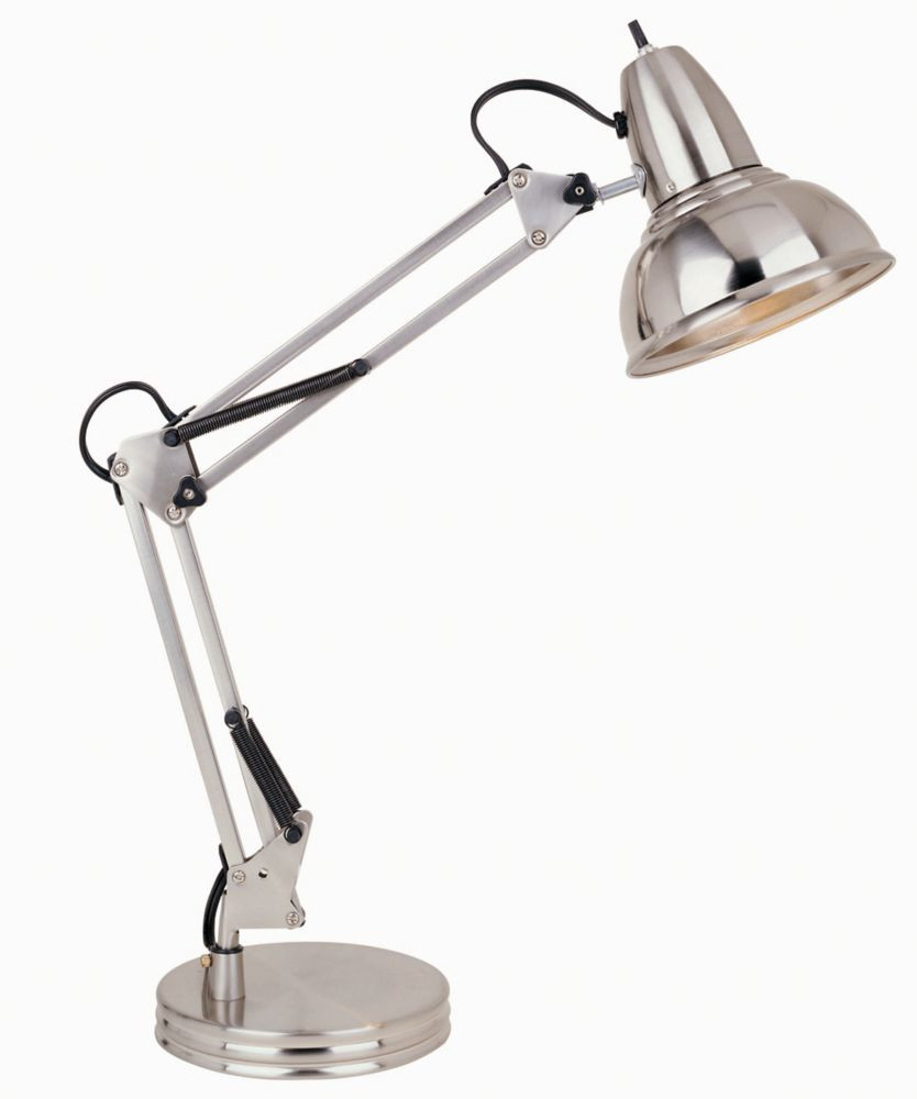 Best ideas about Desk Lamp Home Depot . Save or Pin Hampton Bay Swing Arm Desk Lamp Satin Chrome Finish Now.