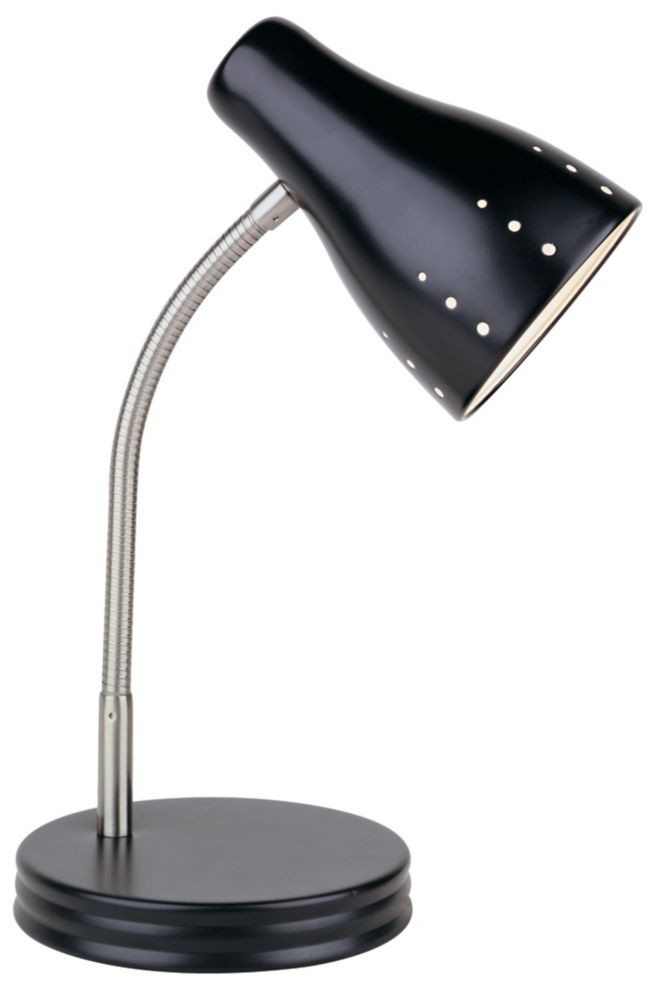 Best ideas about Desk Lamp Home Depot . Save or Pin Hampton Bay 1 Light Touch Desk Lamp Black Finish Now.
