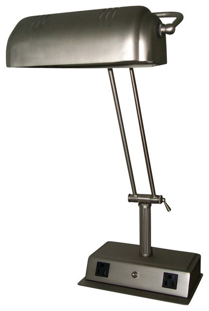 Best ideas about Desk Lamp With Outlet . Save or Pin Cal Lighting LA 623A BS 60 W Desk Lamp W Two Outlet Now.