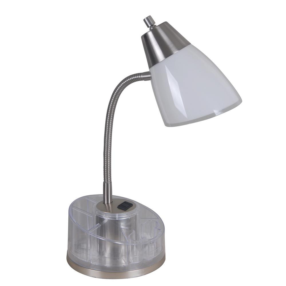 Best ideas about Desk Lamp With Outlet . Save or Pin Tensor 19 5 in White and Clear Organizer Desk Lamp with Now.