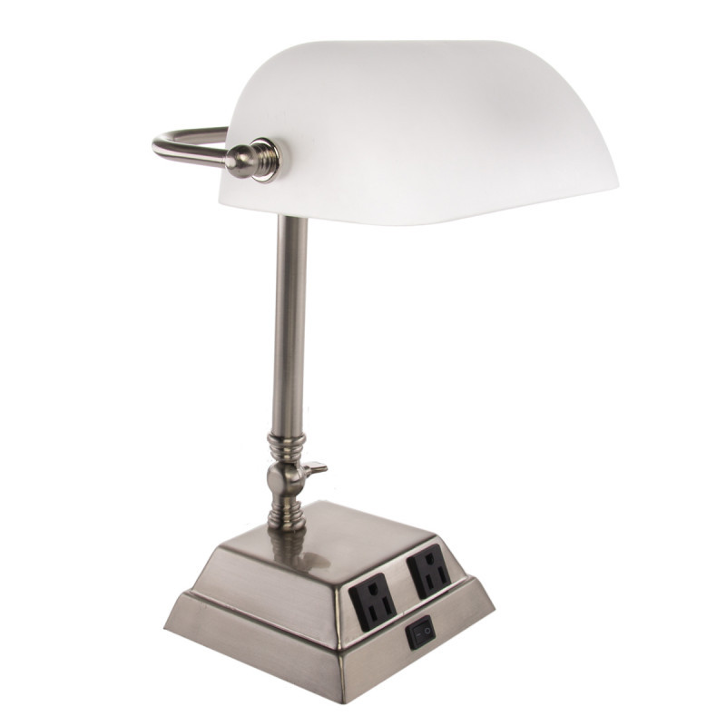 Best ideas about Desk Lamp With Outlet . Save or Pin Banker's Desk Lamp By Tensor – Adjustable Arm Power Outlets Now.