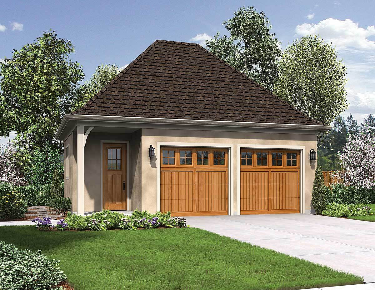 Best ideas about Detached Garage Design Ideas . Save or Pin Charming Detached 2 Car Garage AM Now.