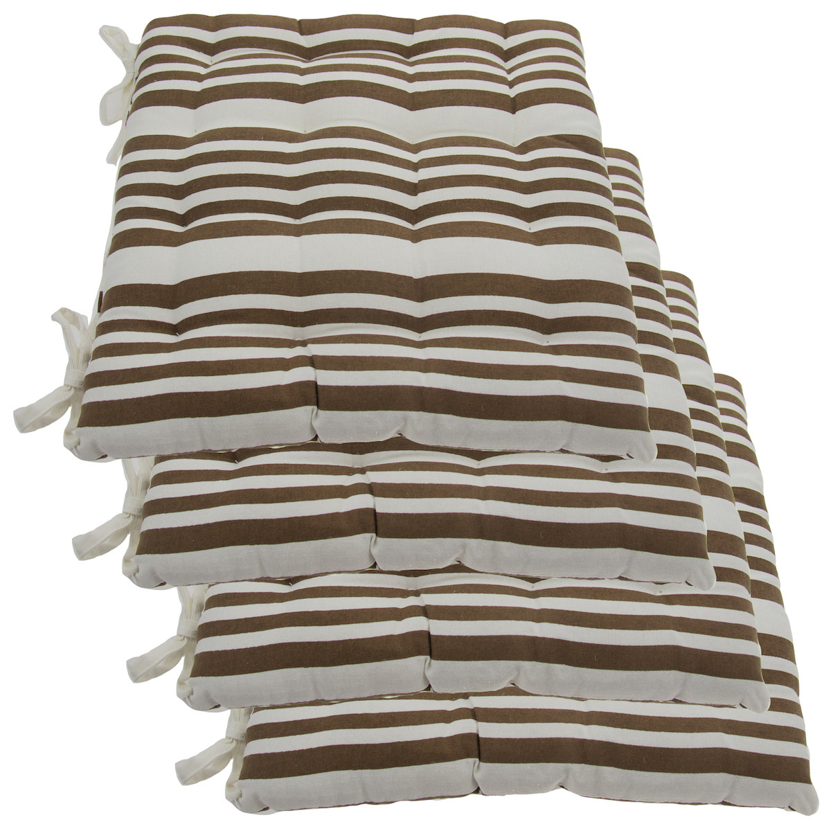 Best ideas about Dining Chair Cushions With Ties . Save or Pin Set 4 Cotton Indoor Reversible Chair Pads & Ties Now.