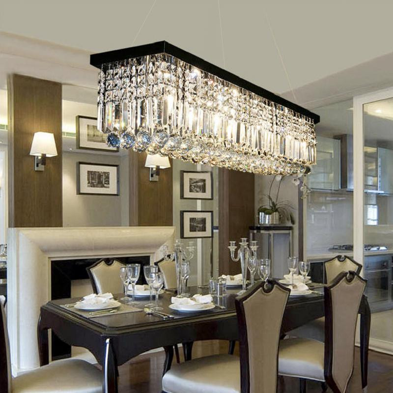 Best ideas about Dining Room Chandelier . Save or Pin Rectangular Crystal Chandelier Dining Room Pendant Light Now.