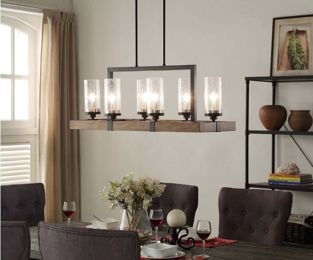 Best ideas about Dining Room Chandelier . Save or Pin Vineyard 6 Light Wood Metal Chandelier Rustic Dining Room Now.