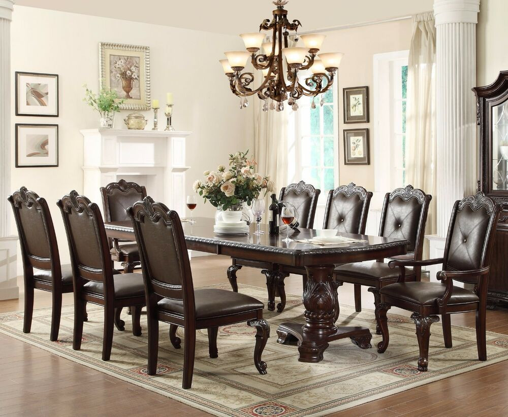 Best ideas about Dining Room Furniture . Save or Pin 7 PC English Antique Formal Dining Room Furniture Table Now.