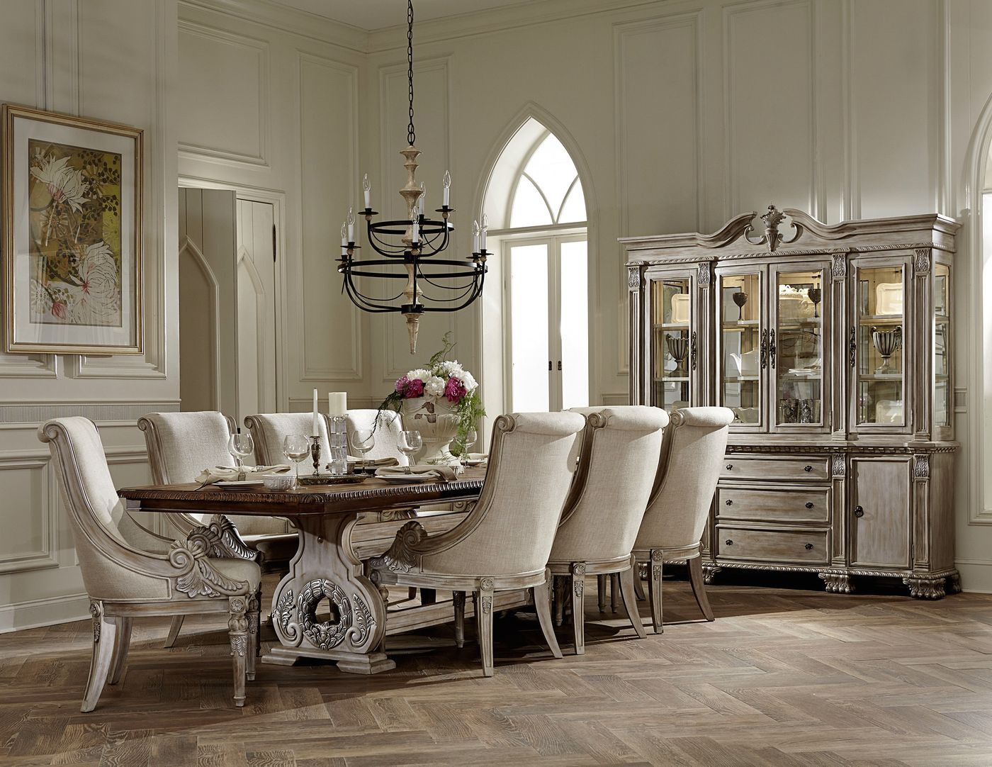 Best ideas about Dining Room Furniture . Save or Pin Orleans II White Wash Traditional Formal Dining Room Now.