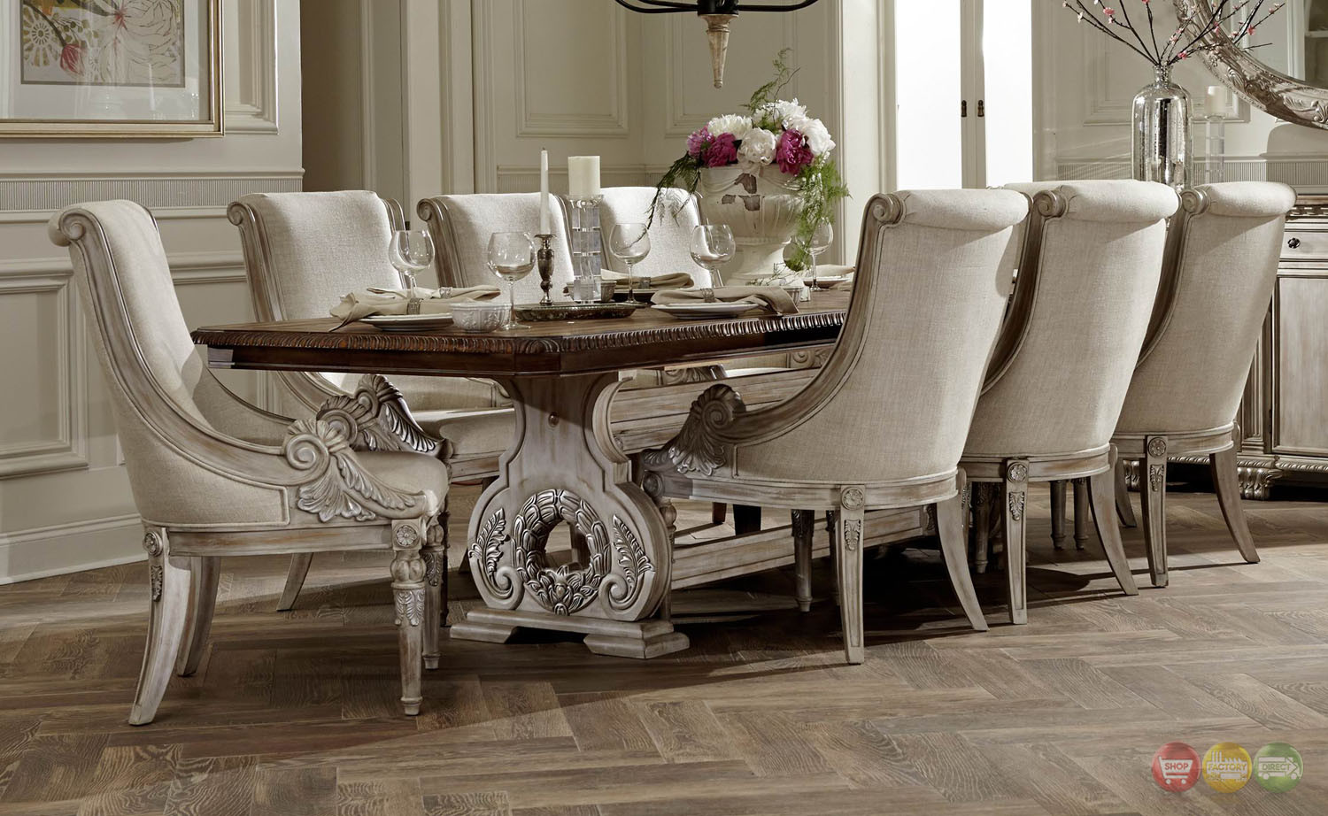 Best ideas about Dining Room Furniture . Save or Pin White Wash Wood Dining Table Now.