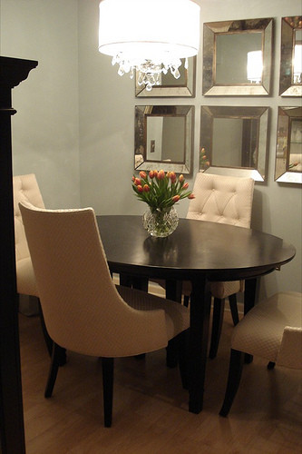 Best ideas about Dining Room Mirrors . Save or Pin Oval Dining Table Transitional dining room Benjamin Now.