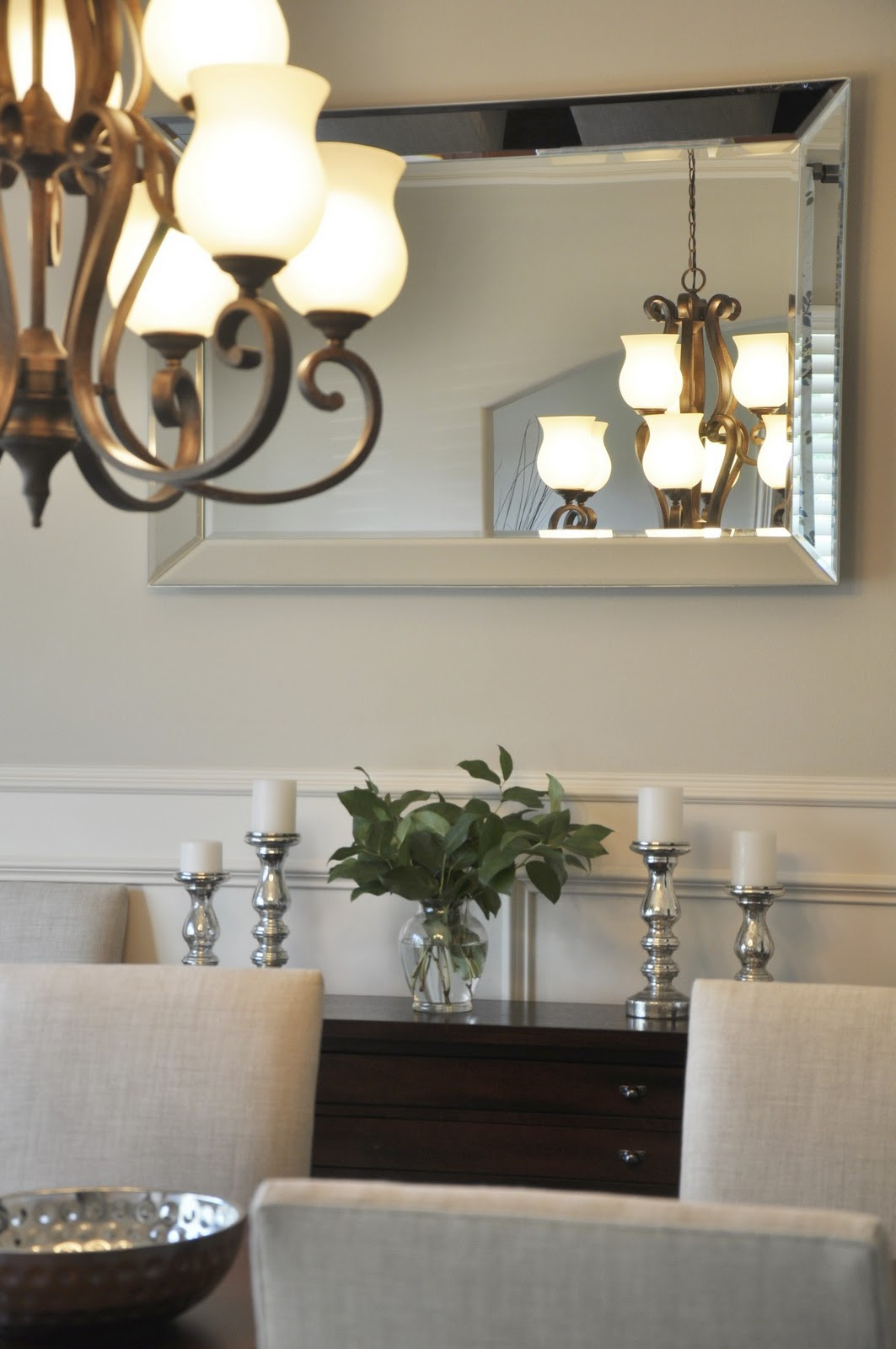 Best ideas about Dining Room Mirrors . Save or Pin Dining Room Progress Drapes & Mirror Now.