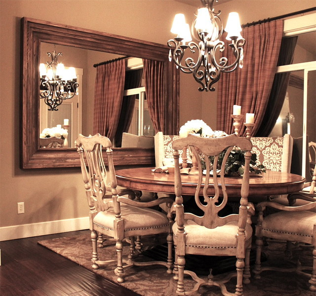 Best ideas about Dining Room Mirrors . Save or Pin Dining Room Wall Mounted Mirror Traditional Dining Now.