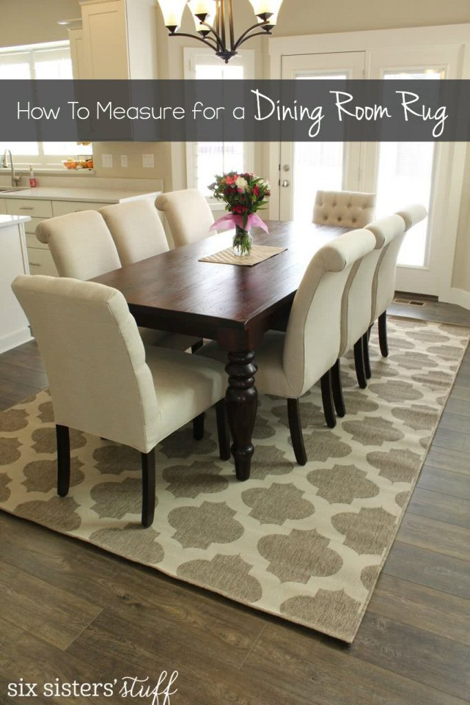 Best ideas about Dining Room Rug . Save or Pin How To Correctly Measure for a Dining Room Rug Now.
