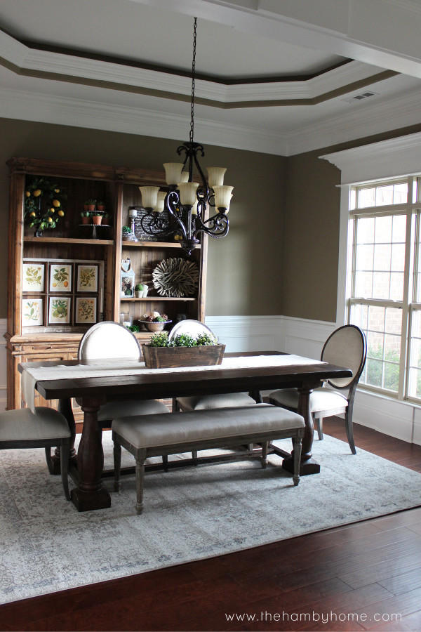 Best ideas about Dining Room Rug . Save or Pin Neutral Washed Out Dining Room Rug The Hamby Home Now.