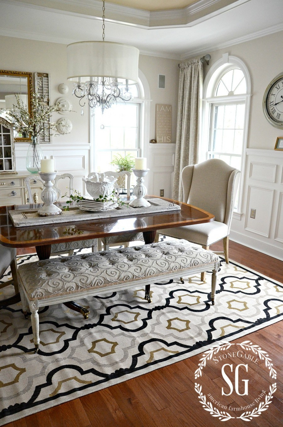 Best ideas about Dining Room Rug . Save or Pin 5 RULES FOR CHOOSING THE PERFECT DINING ROOM RUG StoneGable Now.
