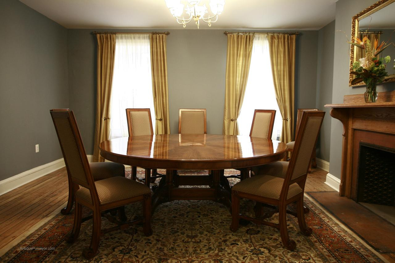 Best ideas about Dining Room Tables . Save or Pin Oversized Round Dining Table Round Mahogany Now.