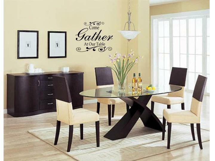 Best ideas about Dining Room Wall Art . Save or Pin E GATHER AT OUR TABLE Wall Art Decal Decor Kitchen Now.