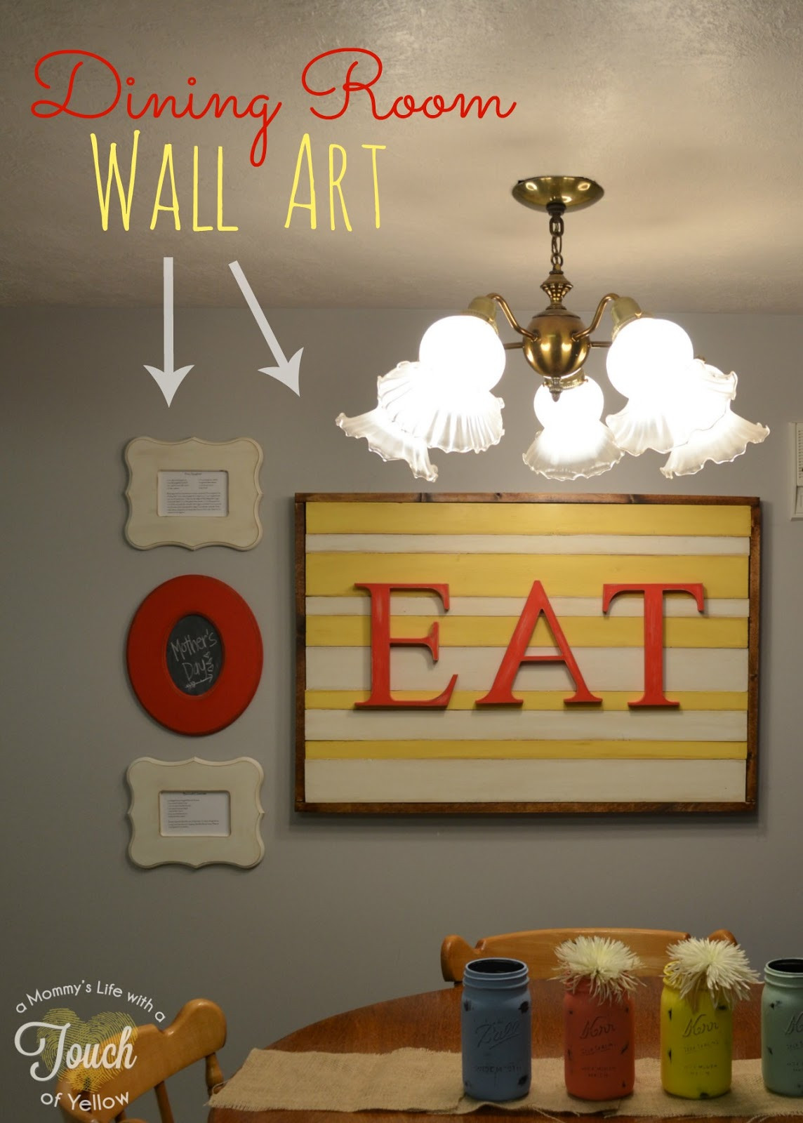 Best ideas about Dining Room Wall Art . Save or Pin Poppy Seed Projects Guest Post DIY Dining Room Wall Art Now.