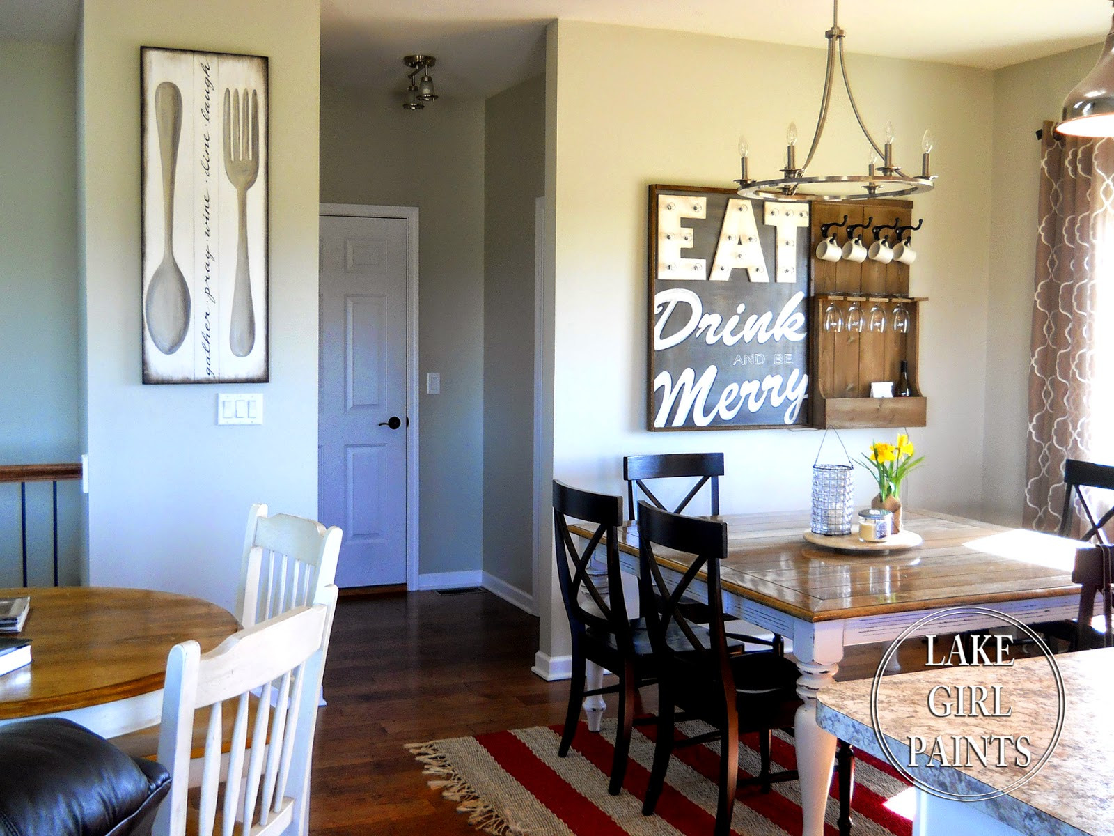 Best ideas about Dining Room Wall Art . Save or Pin Lake Girl Paints Making Dining Room Wall Art Now.